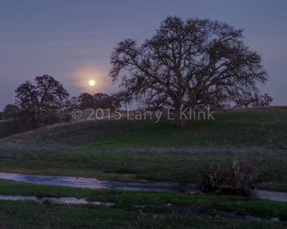 Sierra Foothills—Moonrise over the Foothills, Perspective 2