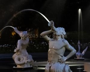 Forsythe Square Fountain at Night, Savannah, GA JUN 2015