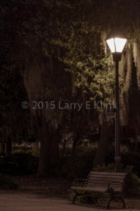 Forsyth Park at Night, Savanah, GA.  JUN 2015