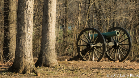 Image of US civil ware era canon in Gettysburg National Military Park