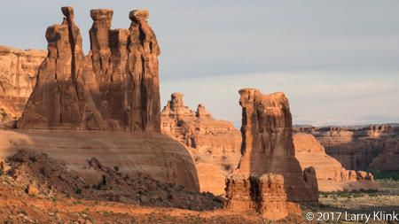Image of rock feature: Three Gossips, Arches National Park, UT, APR 2017