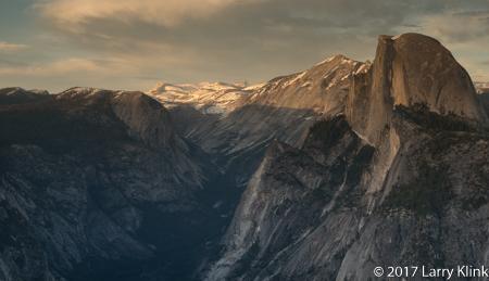 Image of Yosemite's Half Dome at Sunset
