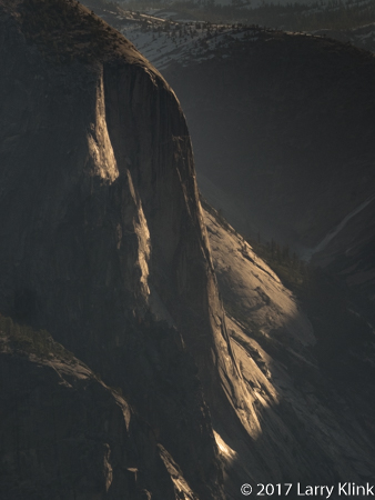 Yosemite's North Dome in mottled early morning light. MAY 2017
