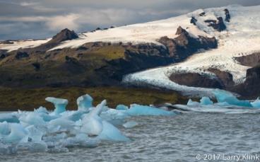 Hof Glacial Lagoon and Vatnajokull Glacier