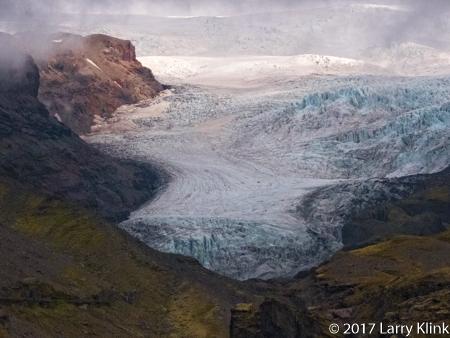 Image of a tongue of Vatnajökull Glacier