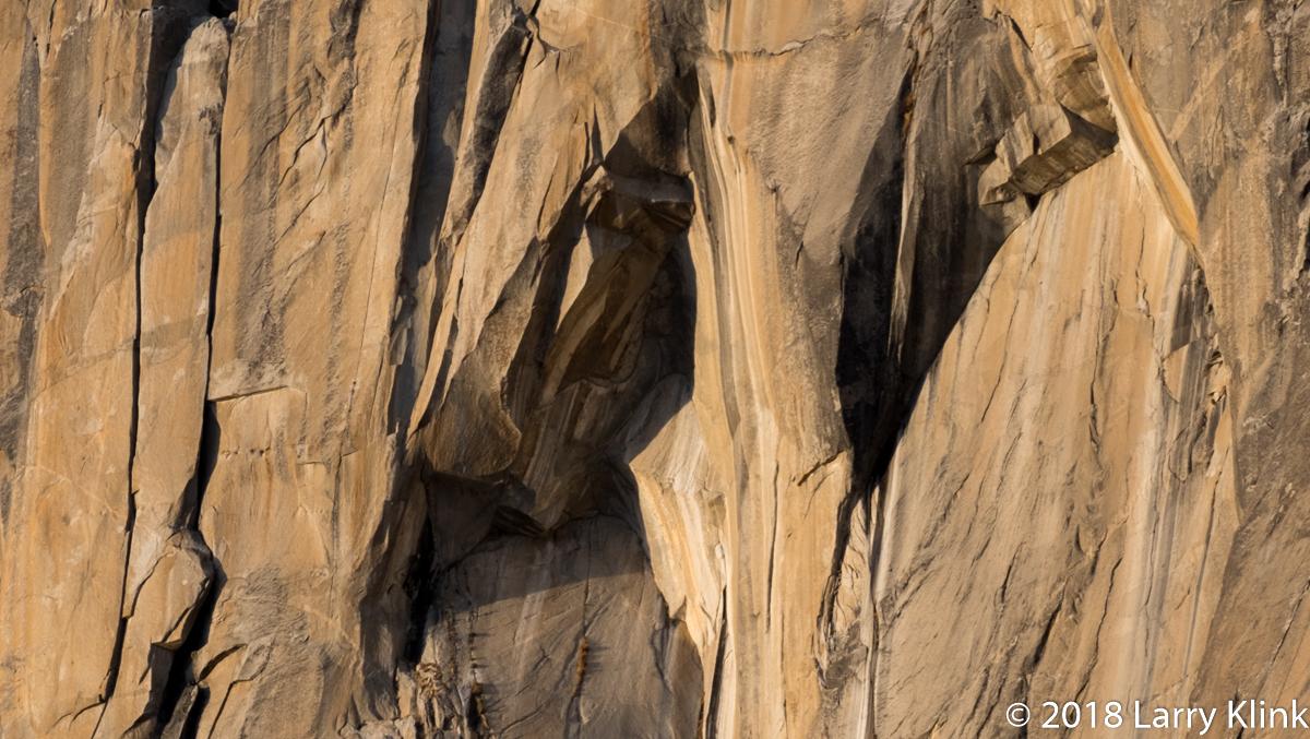 Sections of El Capitan, El Capitan Meadow, Yosemite National Park, JAN 2018