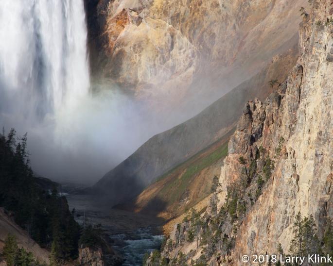 Bottom of Lower Yellowstone Falls